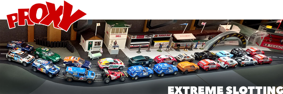 A grid full of off road vehicles ready for the final round of the Extreme slotting proxy series